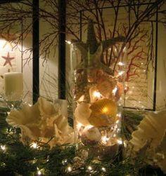 Beautiful for a beach house Christmas Decor