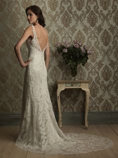 Vintage Inspired Lace Wedding Dress