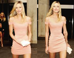 perfect pink dress. #Candice Swanepoel.