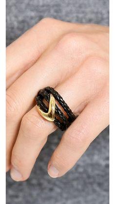 Alexis Bittar Orbiting Leather Ring