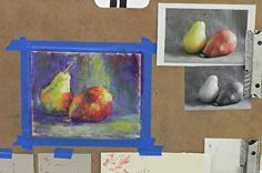 """Teaching Pastel: from total beginner to finished painting in 3 short hours!"" I recently taught an art class as part of an ""art sampler"" class. Check out my blog post about it!  www.daggistudio.com #demo #pastelpainting #beginner #introductory #DaggiWallace"