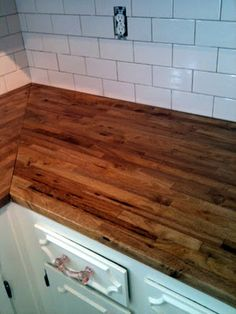 Darkening the Butcherblock Countertops