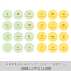 Social Icons from Pretty Lovely