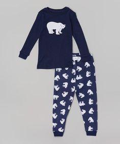 Look what I found on #zulily! Navy Polar Bear Pajama Set - Infant, Toddler & Kids #zulilyfinds