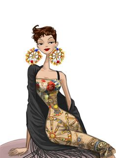 Dolce & Gabbana SS13 fashion illustrations selected by Marcus Kan