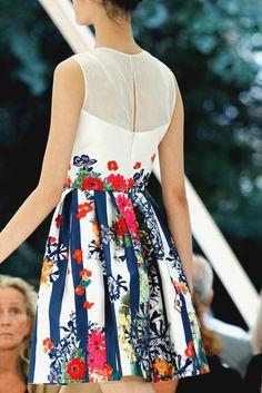 Pretty print dress. Love!