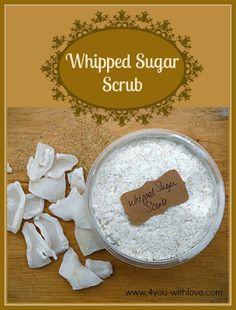 Whipped Sugar Scrub #whippedbodyscrub #diybeautyproducts #sugarscrub