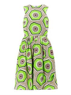 Shop now: Carven Kiwi-print day dress