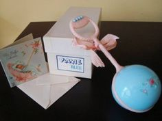 Vintage-1950s-Plakie-Infant-Rattle-Baby-Crib-Toy-Baby-Shower-Gift-Nursery-Quilt