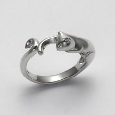 Smooth Cat Band Ring at theBIGzoo.com, a family-owned gift shop with 12,000+ animal-themed items.