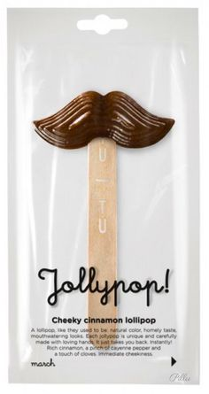 TUTU Lithuanian lollipop. Sweet and natural way! #lollipop #mustache #packaging