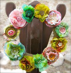 April Stash Busting Wreath by nikimaki, via Flickr
