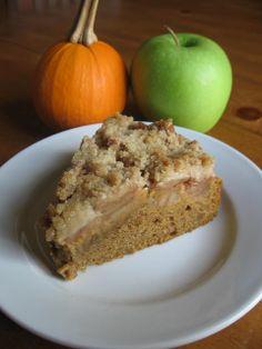 Pumpkin Apple Streusel Cake
