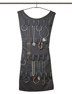Little Black Dress Hanging Jewelry Organizer - $20 (I'd use to loop scarves through.)