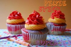 Pixie Stick Cupcakes || Pixy Stixs || Yum  || Head Explodes