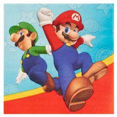 Super Mario Party Lunch Napkins, 90885