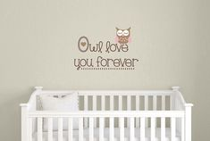 Owl Nursery Wall Decal  Children Boy Girl  by TweetHeartWallArt, $28.00