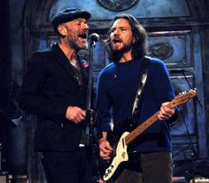 Michael Stipe w/ Eddie Vedder