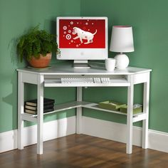 computers, corner desk, corner office, white, home office furniture, small spaces, furniture decor, computer desks, home offices