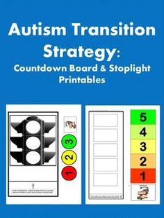 Autism: Transition Strategy - Printable countdown boards/stoplights