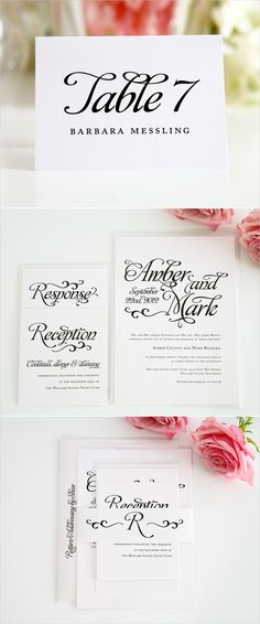 alluring script wedding invitations with matching stationery set http://www.shineweddinginvitations.com/wedding-invitations/alluring-script-wedding-invitations