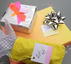 Neon DIY Gift Wrap I