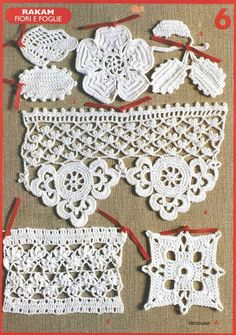 crochet motif images with diagrams