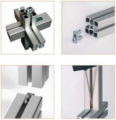 Perfiles de aluminio y accesorios on pinterest for Uniones para perfiles cuadrados de aluminio
