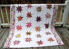 Bright Sky by JennyDillyAnna, via Flickr: I see Wonky Stars & Flying Geese emerging from my scrap bins...