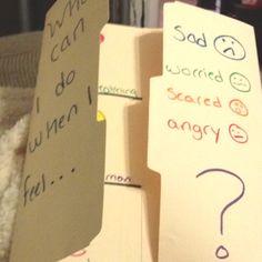 idea, student, lap books, emot, coping skills, cope skill, counsel, file folders, feelings