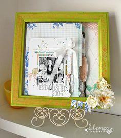 Frame decorated with Citron Colorshine« Heidi Swapp #heidiswapp #colorshine