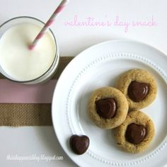 valentine's day peanut butter blossoms