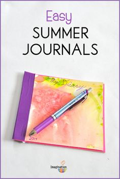 easy summer journals - step by step directions with photos