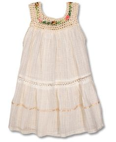 Child's Little Flowers Gauze Sundress