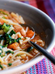 Ribollita - Erren's Kitchen - This recipe is a delicious Italian soup. Very similar to pasta fagioli, it's a cross between a soup and a pasta dish