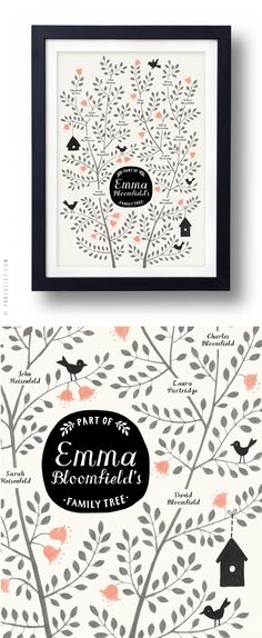So gorgeous and meaningful (Mon carnet) family tree graphic design, mon carnet, family trees, famili tree, inspir, family art prints, family prints, families, illustr
