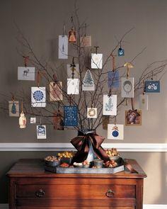 Christmas Card Tree from Martha Stewart
