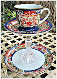 Asian Inspired Teacup / Jewelry Holder / by GardenWhimsiesByMary, $38.00