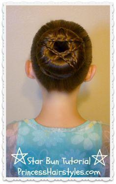 Star Shaped Braided #Bun Hairstyle Tutorial