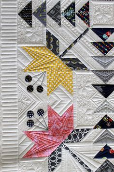 Coastal Lily by Minick and Simpson, pieced by Thelma and quilted by Judi Madsen.