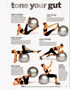 Tone Your Gut with Ball  - http://myfitmotiv.com - #myfitmotiv #fitness motivation #weight #loss #food #fitness #diet #gym #motivation