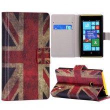 Capa Lumia 520 - Flip Livro Bandeira UK  R$32,90