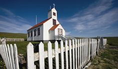 Little church with picket fence