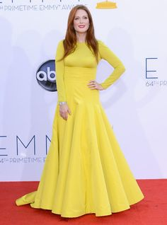 serious yellow. 2012 Emmy Awards