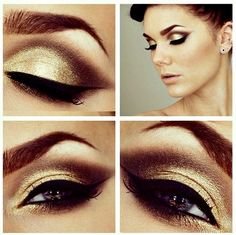 Eyeshadow #gold #Eyeshadow #eye #makeup #smoky #dramatic #eyes