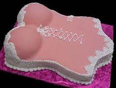 bachelorette/lingerie shower cake Bachelorettelingeri Shower, Bachelorett Shower, Shower Cakes, Linger Shower, Boob Cake