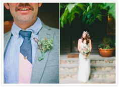 groom's color block tie