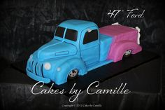 47 Ford sculpted truck cake