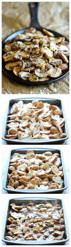 dish, dinner, cook, bake parmesan, flavor mushroom, delici, eat, lemon, baked parmesan mushrooms