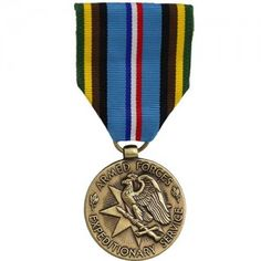 """The Armed Forces Expeditionary Medal (AFEM) is granted to personnel for their involvement in """"any military campaign of the United States for which no other service medal is authorized."""" This includes the Cuban Missile Crisis between October 1962 and June 1963, actions in Lebanon, Taiwan, the Congo, Quemoy and Matsu, and for participation in Berlin between 1961 and 1963, initial operations in South Vietnam, Laos, and Cambodia, Panama, Grenada, Libya, Operation Earnest Will, peacekeeping and sa..."""